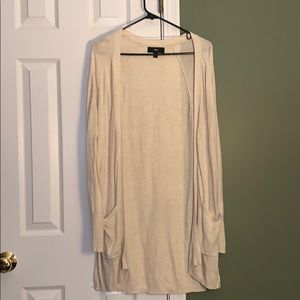 Sweaters - Cute cream Cardigan! Long and fitting!